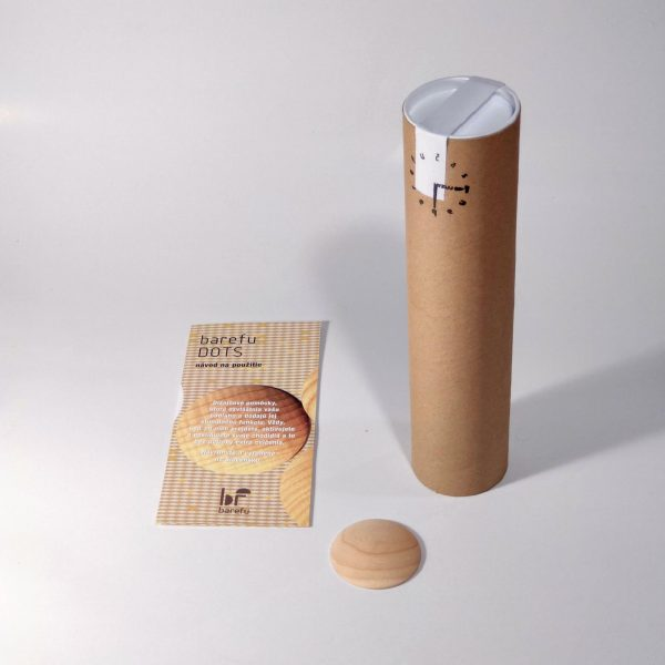 ecological packaging DOTS in paper tube