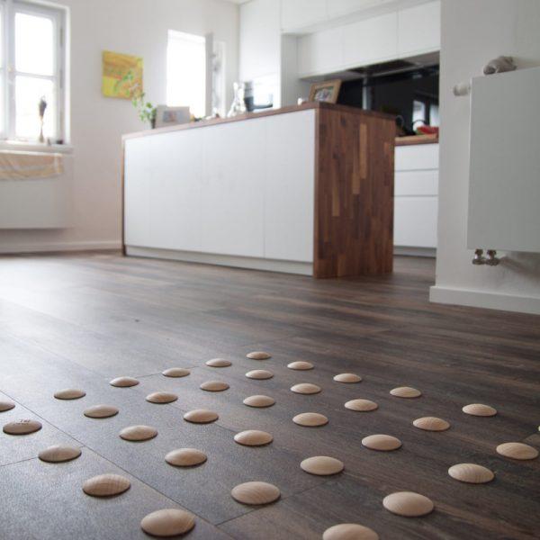 DOTS active - design barefoot floor in corridor for healthy feet