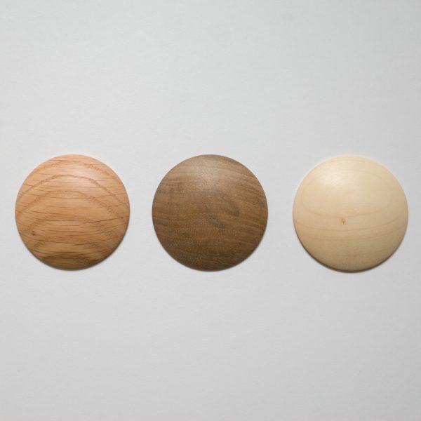 DOTS samples - oak, walnut, maple